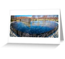 korean warr memorial pool Greeting Card