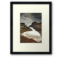 Incoming Wave Framed Print
