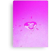Wet heart - purple Canvas Print