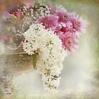White lilacs by Katharina Hilmersson