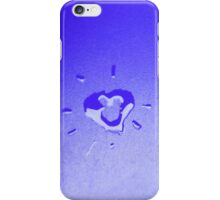 Wet heart - blue iPhone Case/Skin
