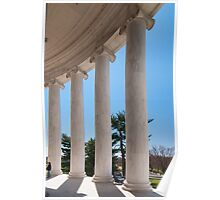 ionic architectural columns Poster