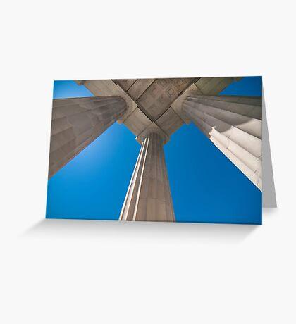 ionic columns Greeting Card