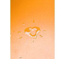 Wet heart - orange Photographic Print
