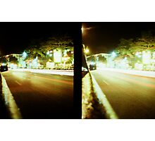 Late Night Tail Lights - Lomo Photographic Print