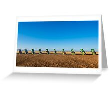 Cadillac Ranch on Route 66, on May 9, 2013, in Amarillo, TX Greeting Card