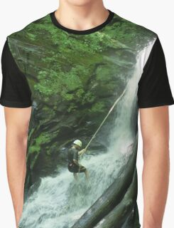 Waterfall Rappel  Graphic T-Shirt