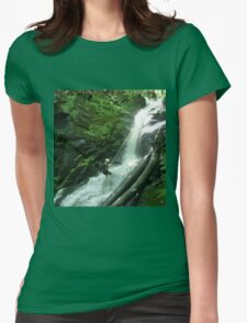 Waterfall Rappel  Womens Fitted T-Shirt