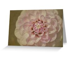Dahlia on Parchment Greeting Card