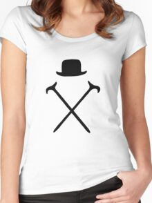 Bowler Hat and Canes T Shirt Women's Fitted Scoop T-Shirt