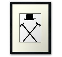 Bowler Hat and Canes T Shirt Framed Print