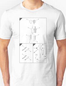 Grey Alien Model Kit (White Background) T-Shirt