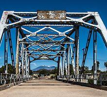 Walnut Creek Bridge and Mt. Taylor on Route 66, Winona, AZ by swtrekker