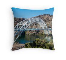 Old Trails Arch Bridge and mountains, Topock, AZ Throw Pillow