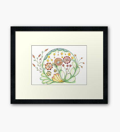 Zendala 6 coloured Framed Print