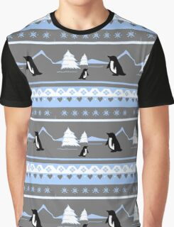 Deck The Halls With Penguins Graphic T-Shirt