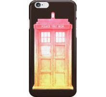 Pink Sunset Tardis iPhone Case/Skin