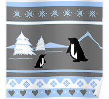 Deck The Halls With Penguins Poster