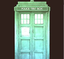 Green Sunset Tardis by Kylieratto