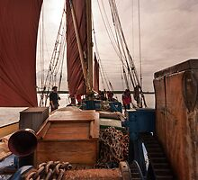 Sailing Barge 'Edith May'. by Paul Woloschuk