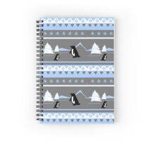 Deck The Halls With Penguins Spiral Notebook