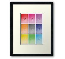 Wet heart - rainbow dash Framed Print