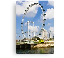 Oil Painting - The whole structure of the Singapore Flyer Canvas Print