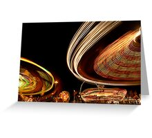 Amusement Park Ride Greeting Card
