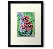 Vintage Poppy Framed Print