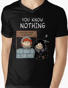 You Know Nothing Mens V-Neck T-Shirt