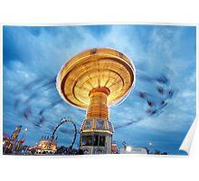 Amusement Park Ride Poster