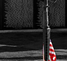 Vietnam Wall w/ Memorial by LoneTreeImages