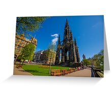 The Scott Monument Greeting Card