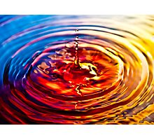 Multi-coloured Droplet Photographic Print