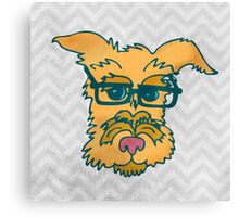 Mack The Cool Nerd Dog Canvas Print