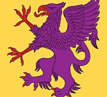 Griffin Rampant Purpure by RHFay
