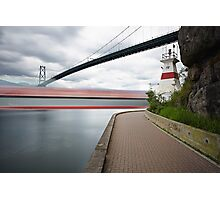 Lion's Gate and Freighter Photographic Print