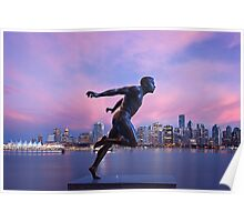 Vancouver Skyline with Harry Jerome Poster