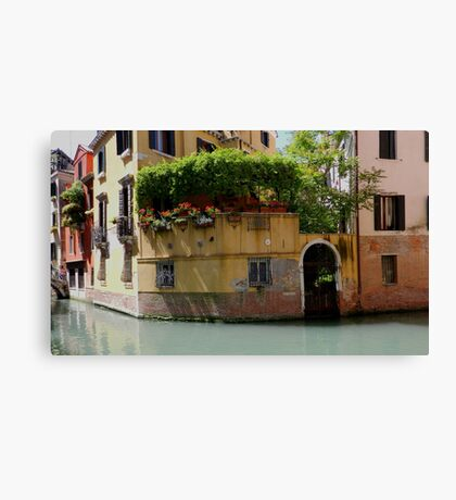 "Venice ""streetscape"". Canvas Print"