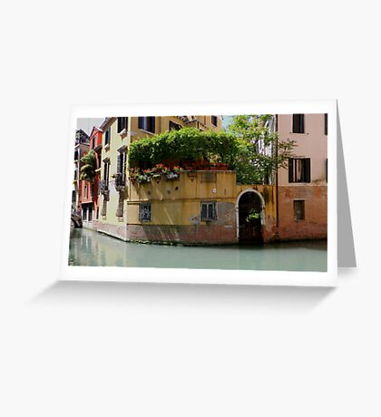 "Venice ""streetscape"". Greeting Card"