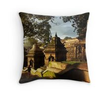 Little Temples of Kathmandu  Throw Pillow