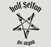 Hail Seitan 1.1 (black) by MysticIsland