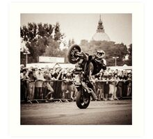 motorcycle stunt 010 Art Print