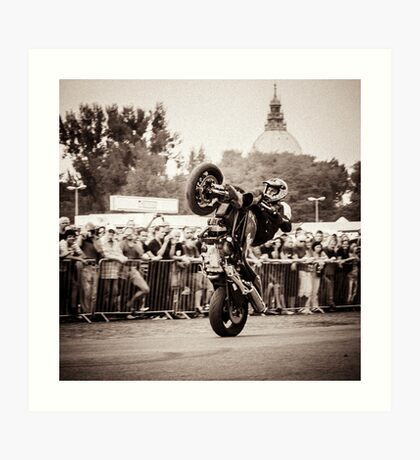 motorcycle stunt 010 Art Print