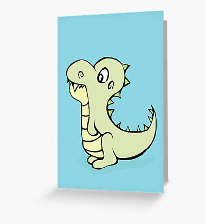 Dinosaur Cutie Greeting Card