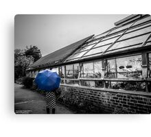 blue brolly Canvas Print