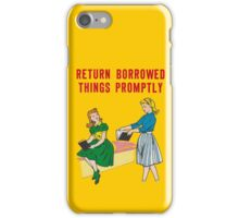 Classroom Poster manners iPhone Case/Skin