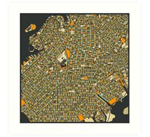 BROOKLYN MAP Art Print