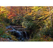 Fall Foliage Waterfall Photographic Print