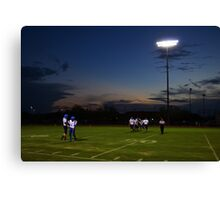 Football Players and Sunset Canvas Print